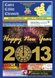 January 2013 - Costa Calida Chronicle