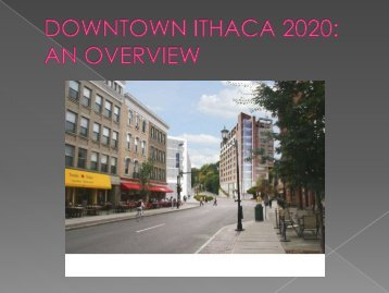Downtown Ithaca Alliance 2020 Plan - Ithaca Carshare