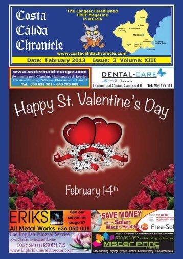 February 2013 - Costa Calida Chronicle