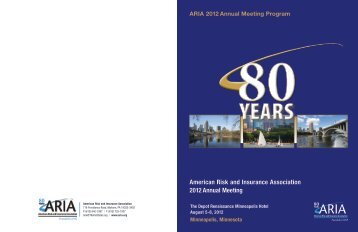 2012 Annual Meeting Program - American Risk and Insurance ...