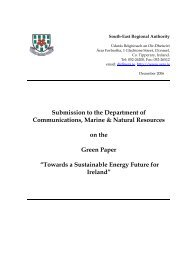 Energy Green Paper Submission Dec 06 - South-East Regional ...