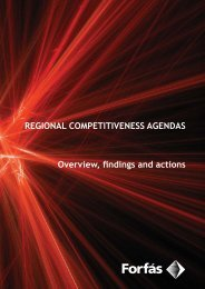Regional Competitiveness Agendas - Overview Findings ... - Forfás