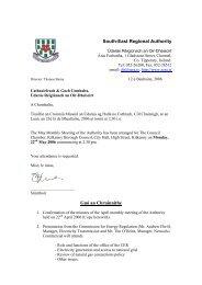 12ú Feabhra, 2004 - South-East Regional Authority