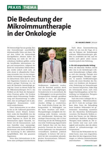 Mikroimmuntherapie und Onkologie - Serafin Naturheilpraxis AG