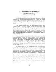LA ANTIGUA PROVINCIA DE MÉRIDA (RESEÑA HISTÓRICA)1