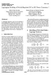 Lagrangian Modeling of Switch Regulated DC-to-DC Power ...
