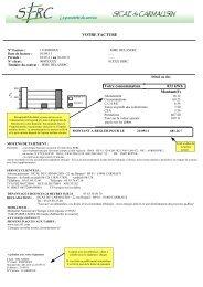 VOTRE FACTURE Votre consommation 833 kWh Montant(€) - SERC