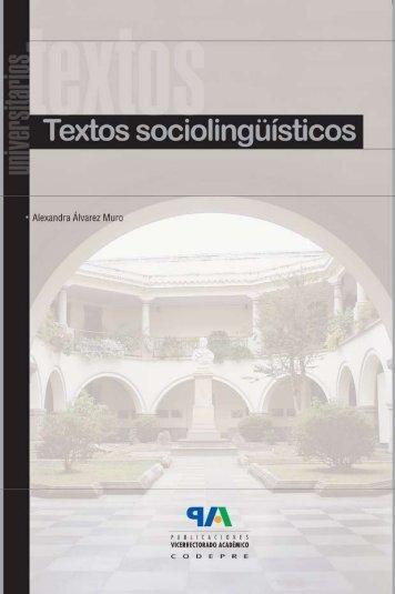 Textos sociolingüísticos - Universidad de Los Andes