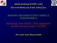 (MPI), oraz niektórych danych klinicznych d