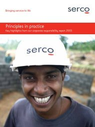 Principles in practice: Key highlights from our corporate ... - Serco
