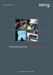 Annual review and accounts 2007 - Serco