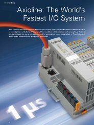 Phoenix Contact Axioline: the world's fastest I/O system - sercos