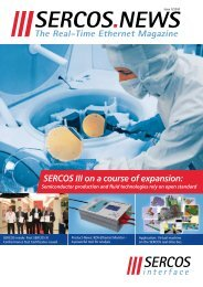 The Real-Time Ethernet Magazine - sercos