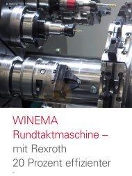 WINEMA Rundtaktmaschine – mit Rexroth 20 Prozent ... - sercos