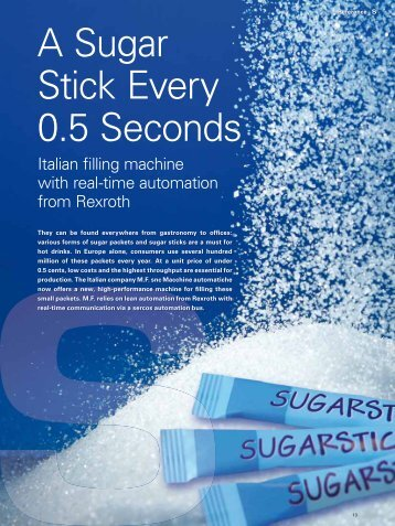 """Read the complete sercos article """"A Sugar Stick every 0.5 Seconds"""""""