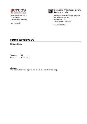 Design Guide for EasySlave-IO - sercos