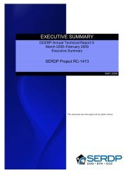 EXECUTIVE SUMMARY - Strategic Environmental Research and ...