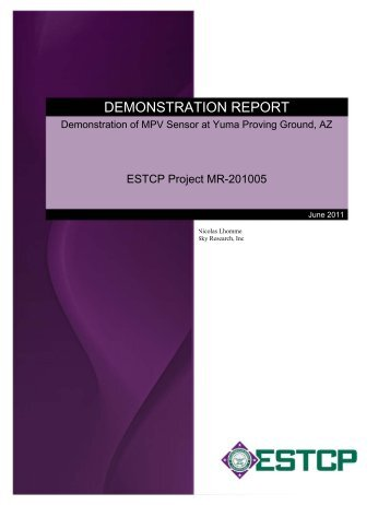 Technical Report - Strategic Environmental Research and ...