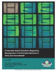 FAQ - Strategic Environmental Research and Development Program