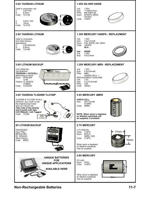 Batterie Lithium Industrie BRE3 6V 1200mAh Panasonic
