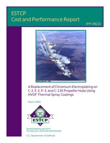 Cost and Performance Report - Strategic Environmental Research ...