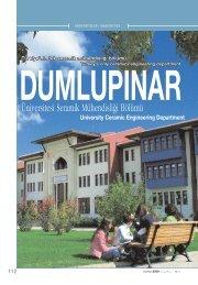 Üniversitesi Seramik Mühendisli¤i Bölümü