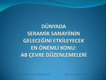 Germiyan Saatçioğlu Türkiye Seramik Federasyonu