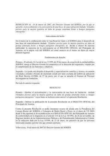 descargar resolución en formato pdf - Servicio Regional de ...