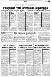 18/02/2008 Campionato 24a Giornata: Girone F - serie d news
