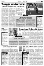 20/11/2006 Campionato 11a Giornata: Girone E - serie d news