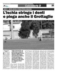 25/09/2006 Campionato 2a Giornata: Girone H - serie d news