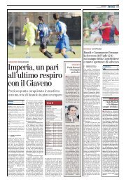 08/01/2007 Campionato 17a Giornata: Girone A - serie d news