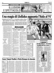 26/02/2007 Campionato 24a Giornata: Girone C - serie d news