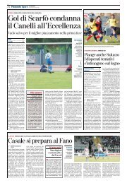 Gol di Scarfò condanna il Canelli all'Eccellenza - serie d news