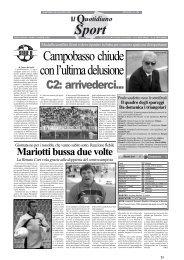 19/05/2008 Play Off - 2a gara abbinamenti - Gironi F ... - serie d news