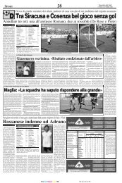 02/10/2006 Campionato 3a giornata: Girone I - serie d news