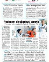 08/01/2007 Campionato 17a Giornata - serie d news