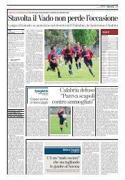 07/04/2008 Campionato 30a Giornata: Girone A - serie d news