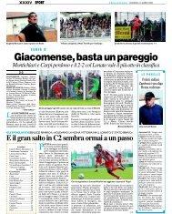 16/03/2008 Campionato 28a Giornata - serie d news
