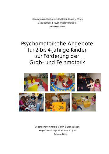 Psychomotorische Angebote für 2 bis 4-jährige Kinder zur - BSCW