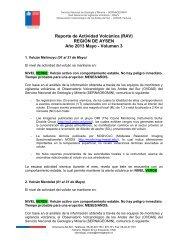 Reporte de Actividad Volcánica - Sernageomin