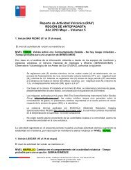 Reporte de Actividad Volcánica (RAV) REGIÓN DE ... - Sernageomin
