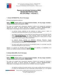 Reporte de Actividad Volcánica (RAV) REGIÓN ... - Sernageomin