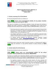Reporte Actividad Volcánica N°23 - Sernageomin