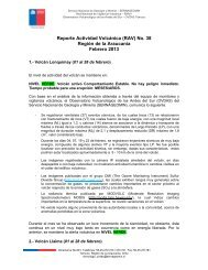 Reporte Actividad Volcánica (RAV) No. 38 - Sernageomin