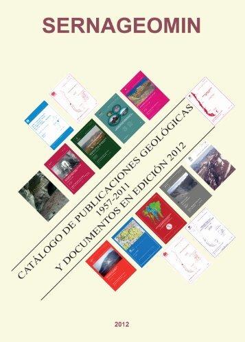 Descargar Catálogo de Publicaciones Geológicas - Sernageomin
