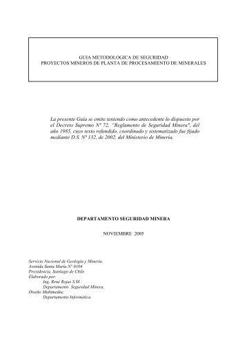 Guía Metodológica de Seguridad Proyectos Mineros ... - Sernageomin