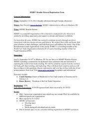 SERRV Retailer Retreat Registration Form General Information When