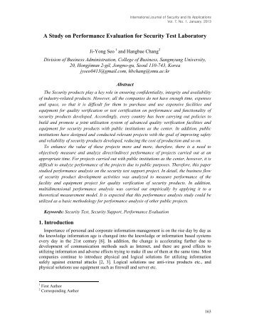 A Study on Performance Evaluation for Security Test Laboratory