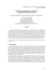 Web-based Visualization and Analysis of Atmospheric ... - SERSC